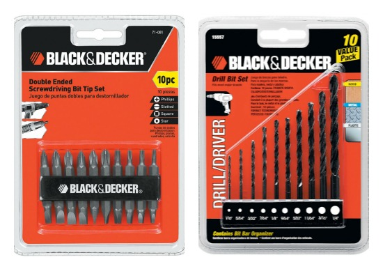 Black and Decker Drill Bit Set Coupon