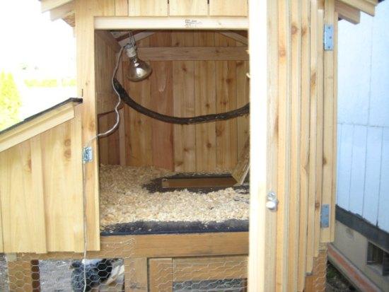 DIY Chicken Coop Plans interior roost