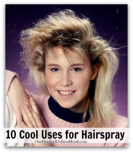 10 cool uses for hairspray