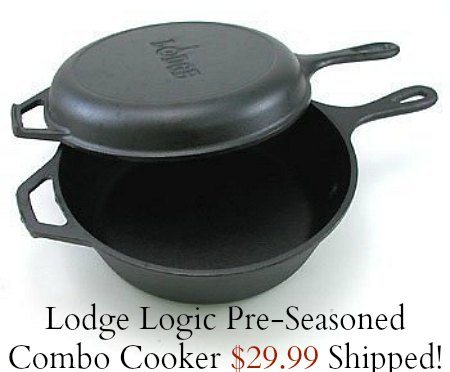 Lodge Logic  Pre-Seasoned Combo Cooker