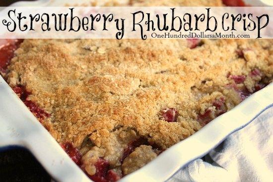 Strawberry Rhubarb Crisp