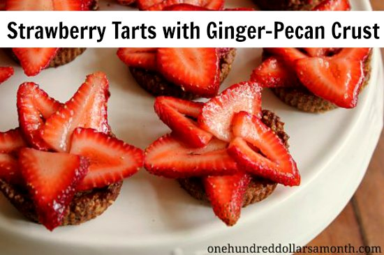 Strawberry-Tarts-with-Ginger-Pecan-Crust