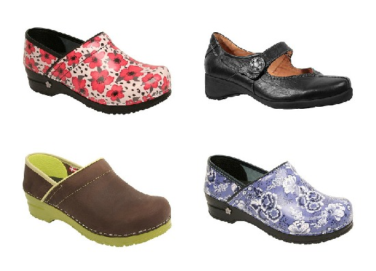 clogs with patterns