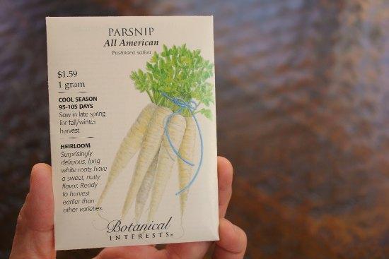 parsnip seed packet