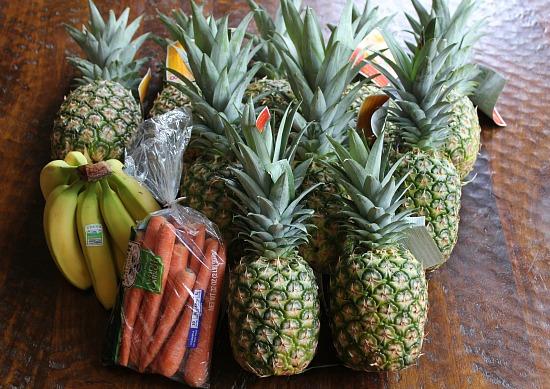 pine apple carrots bananas
