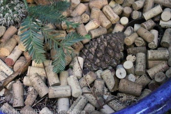 Container Garden Ideas Wine Corks