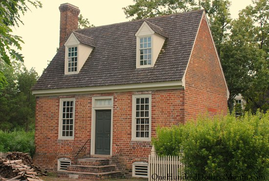 Homes Of Colonial Williamsburg Va One Hundred Dollars A