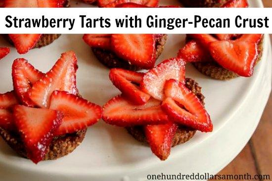 Strawberry Dessert Recipe - Strawberry Tarts with Ginger ...