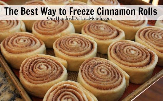 The Best Way to Freeze Cinnamon Rolls