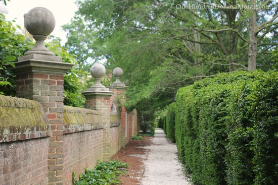 garden walkway Colonial Williamsburg, Va