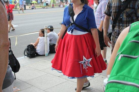 poodle skirt patriotic