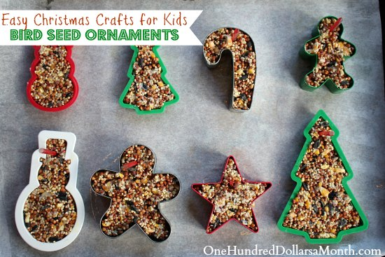 Easy Christmas Crafts - Bird Seed Ornaments