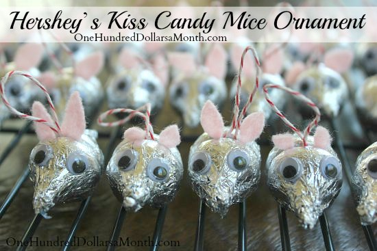 Hershey's Kiss Candy Mice Ornament