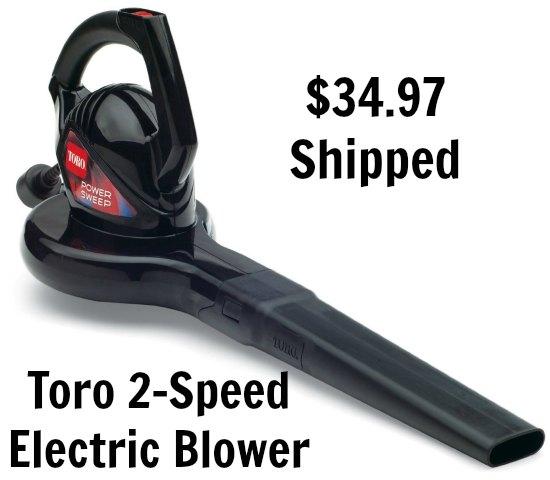 Toro 51585 Power Sweep 7 amp 2-Speed Electric Blower
