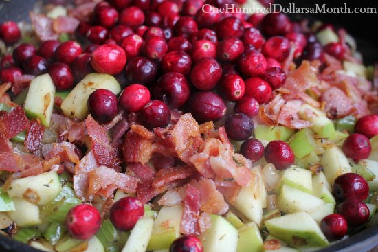 Cranberry Bacon Apple Cornbread Stuffing