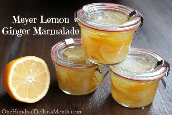 Meyer Lemon Ginger Marmalade – I love everything Meyer lemon, and ...
