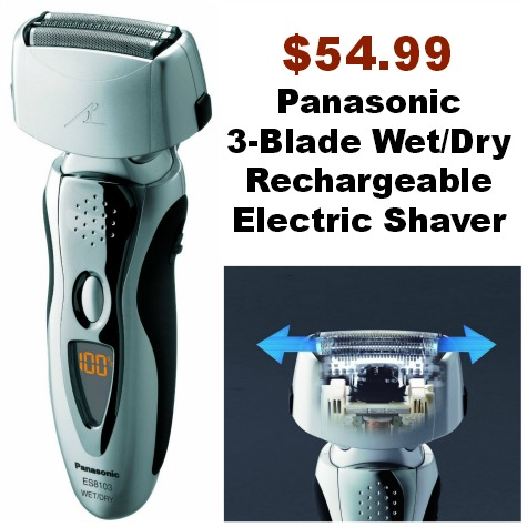 Panasonic  3-Blade WetDry Rechargeable Electric Shaver