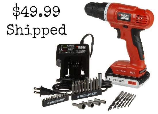 Black & Decker 20-Volt MAX Lithium-Ion DrillDriver with 30 Accessories