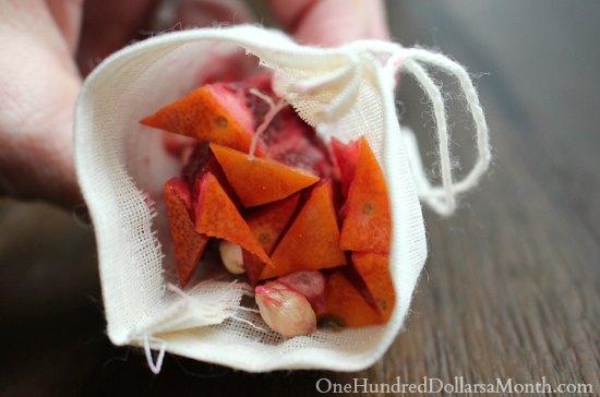 Blood Orange Marmalade muslin bags