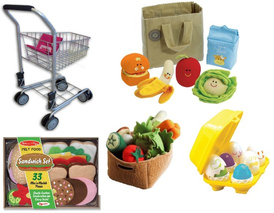soft food toys kids shopping cart