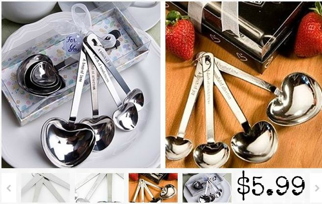 heart shaped measuring spoons