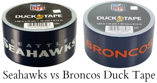 seahawks broncos duck tape