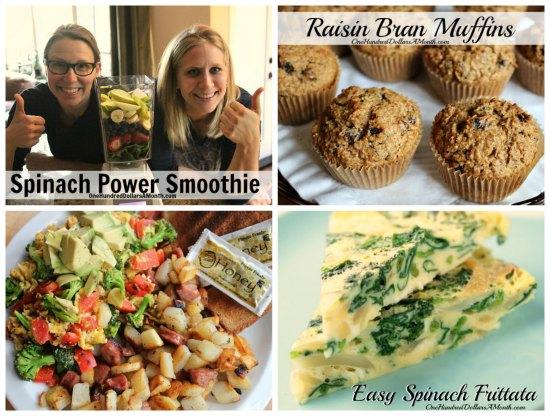 weekly meal plan breakfast ideas