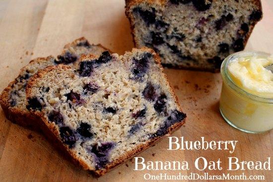 Blueberry Banana Oat Bread