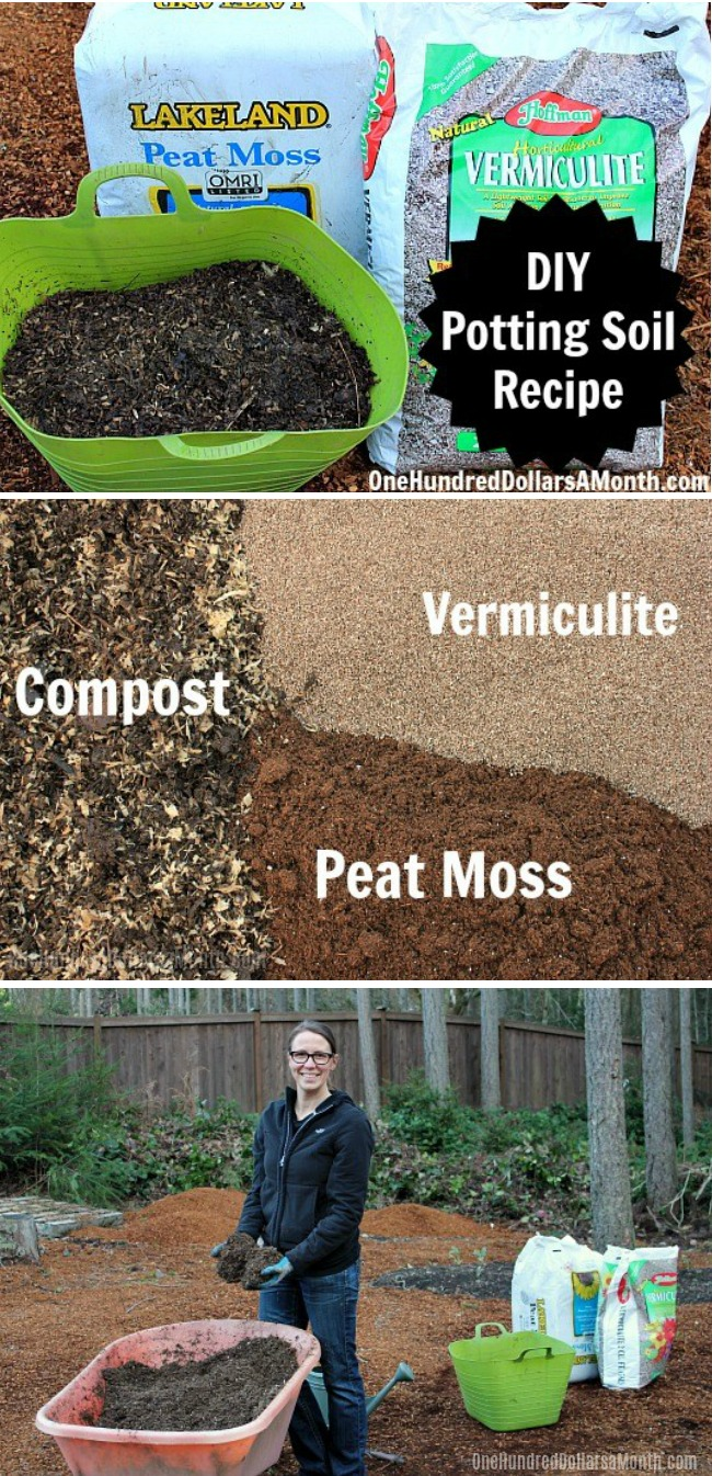 DIY - How to Make Your Own Potting Soil - One Hundred Dollars a Month