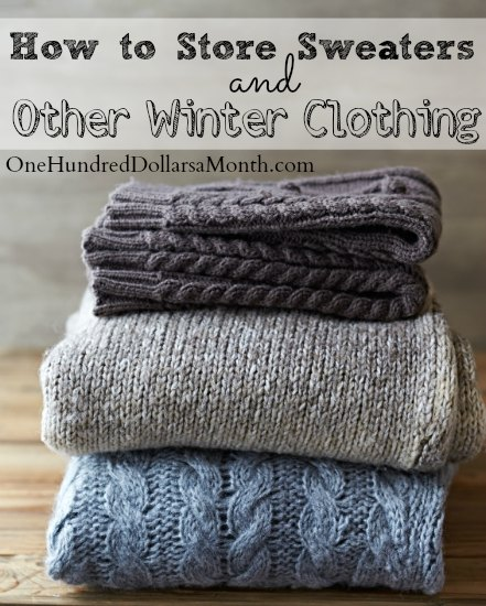 How to Store Sweaters and Other Winter Clothing