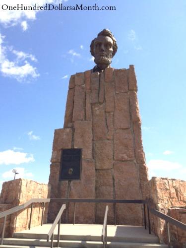 Giant Head of Abraham Lincoln, Laramie, Wyoming