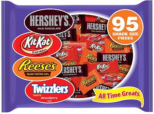 hersheys snack size candy