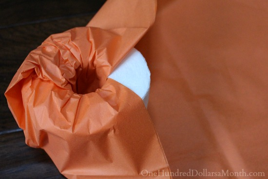 Halloween Craft - Toilet Paper Pumpkin