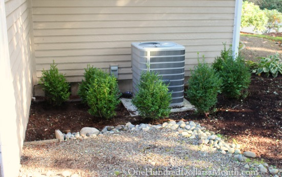 Planting Around an Air Conditioning Unit with Boxwoods
