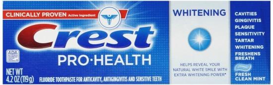 crest prop health toothpaste