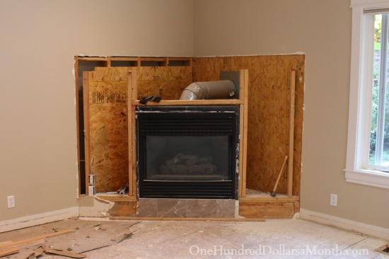 My Ugly Outdated Corner Fireplace Gets Demolished  One