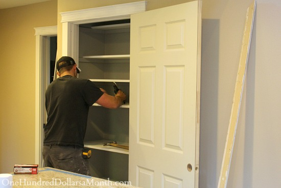 new pantry shelves