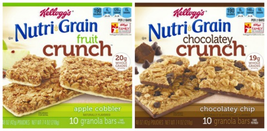 nutri grain fruit crunch bars