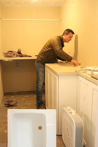 timberlake sonoma white laundry cabinets