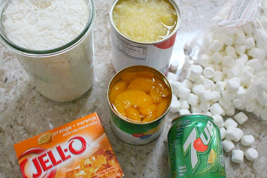 7-Up Orange Jell-O Salad Recipe
