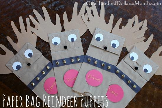 Easy Christmas Crafts For Kids Paper Bag Reindeer