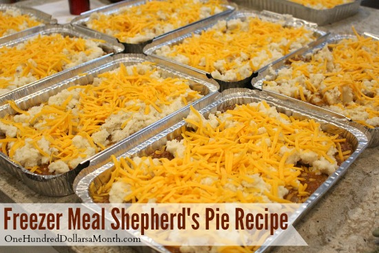 Freezer Meal Shepherd's Pie Recipe - One Hundred Dollars a