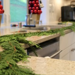 Pictures Of Living Room Decorated For Christmas Red Rugs Uk Making A Cedar Garland From Scratch - One ...