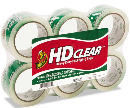 hd clear duck  packing tape