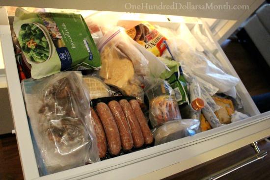 food in freezer