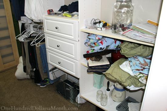 junk in closet