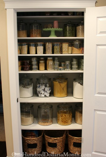 pantry glass jars