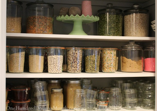 weck canning jars glass pantry