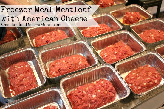 Freezer Meal Meatloaf with American Cheese