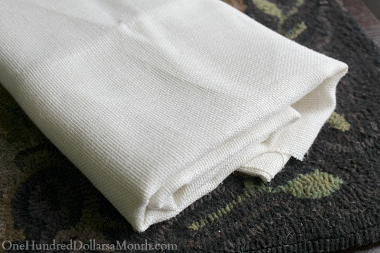 Scottish rug hooking linen